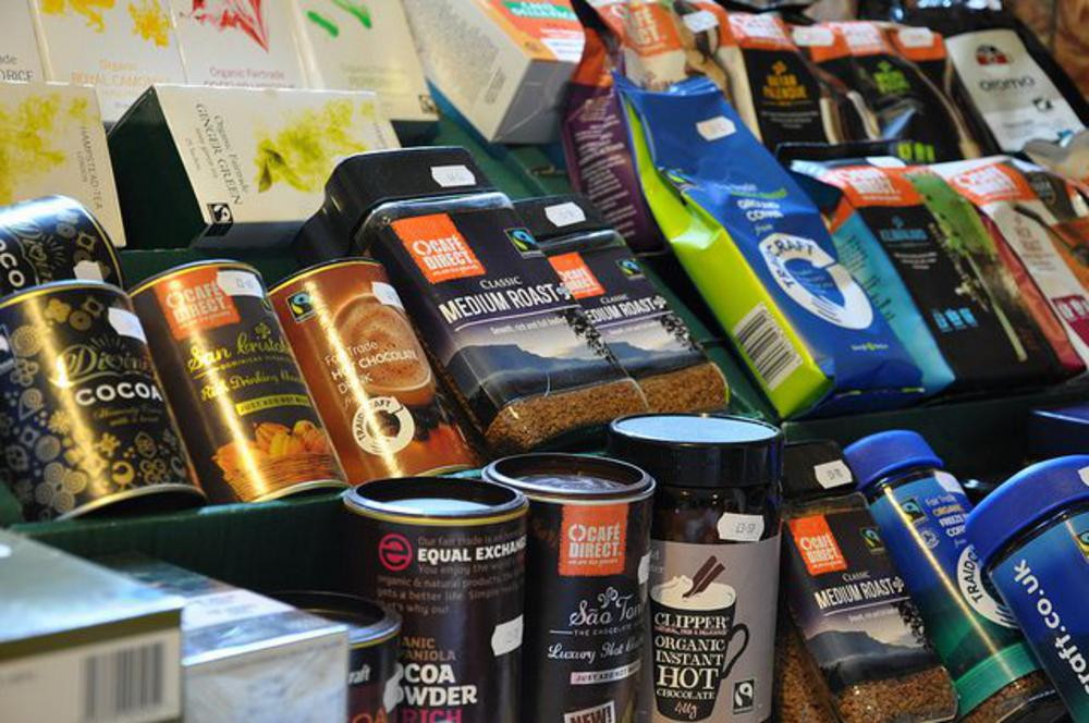 A selection of Fairtrade products