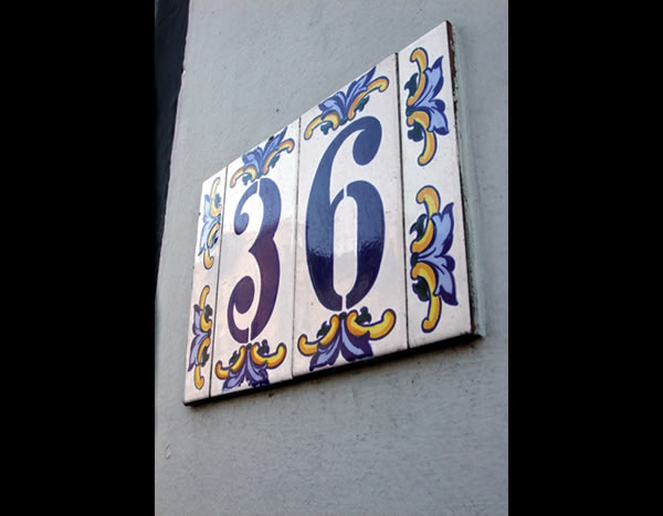 Ornate 36 number sign