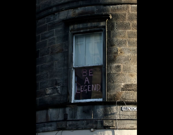 Flat window inspirational message