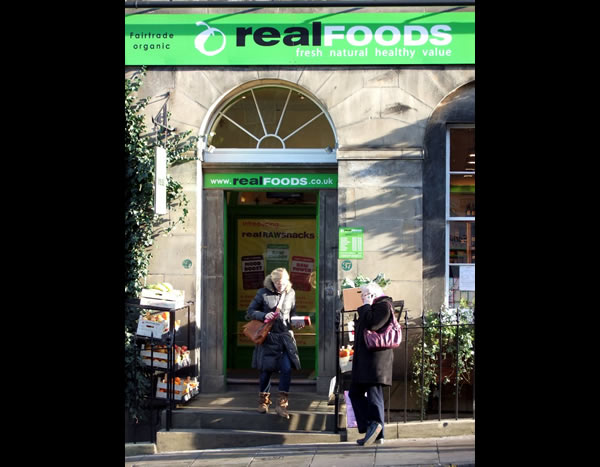 Main entrance to Real Foods