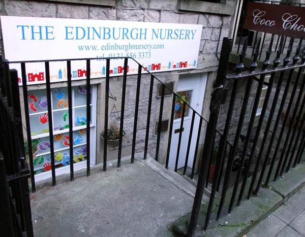 Edinburgh Nursery sign