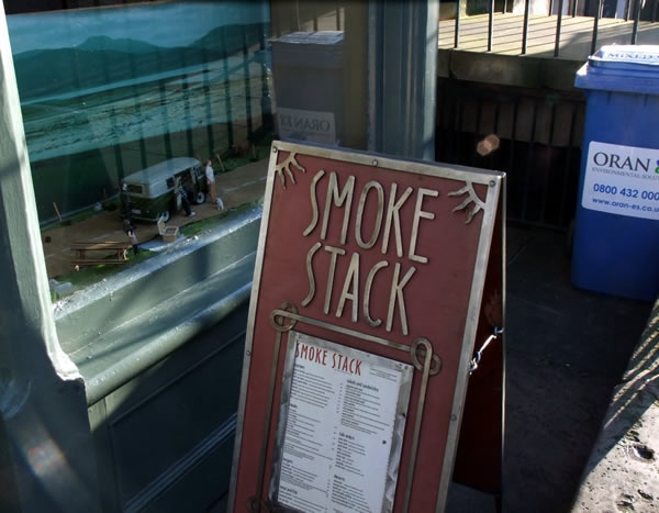 Smoke Stack restaurant sign