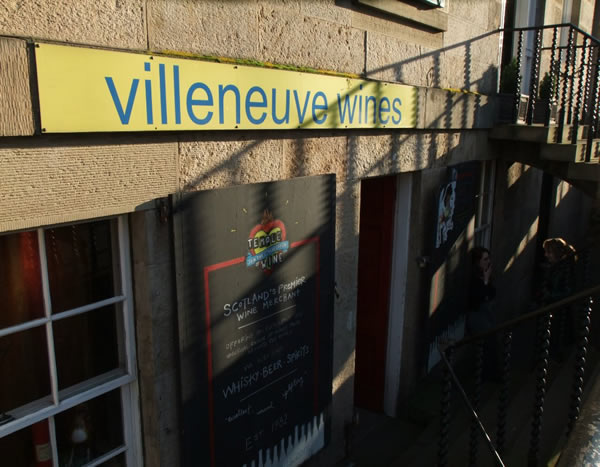 Villeneuve Wines shop sign