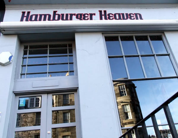 Hamburger heaven eatery sign