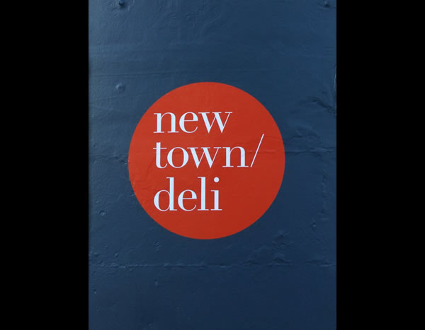 New town deli restaurant sign