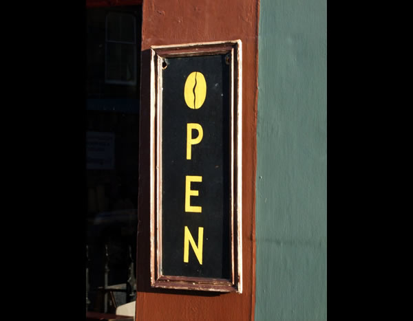 Open door sign