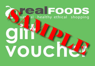 Real Foods Gift Voucher