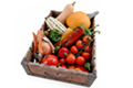 Organic fruit and vegetable tray